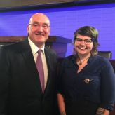 Universities Australia Chair Professor Barney Glover and UON graduate Karlie Noon.