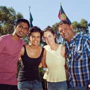 A group of Aboriginal and Torres Strait Islander students