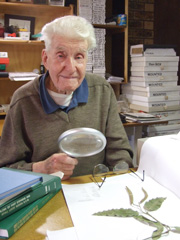 Donal McNair with one of his plants