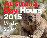 Australia Day hours