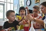 Preschool on campus gets first taste of Little Scientists