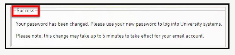 Change known password success