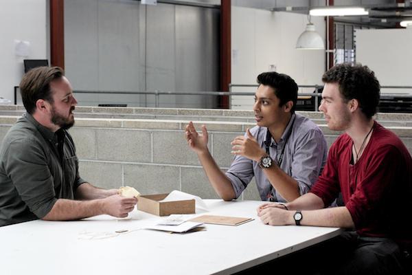 Monty Sharma and Ben Hansen with Justin Spaull