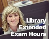 Extended weekend Library hours for exam study