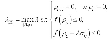 Optimisation problem formula