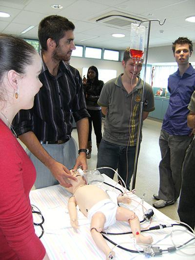 Students practice paediatric medicine on SimBaby