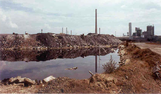 Industrial waste pile