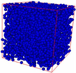 5000 mono-sized spheres