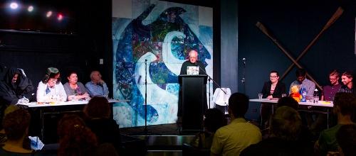 Dr Bernie Curran hosts the Godfrey Tanner Great Debate - academics v students.