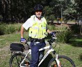 Security officer on bike