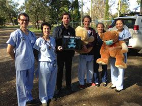 Students attend a Teddy Bear Hospital for preschoolers at Taree