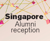 Singapore Alumni reception graphic